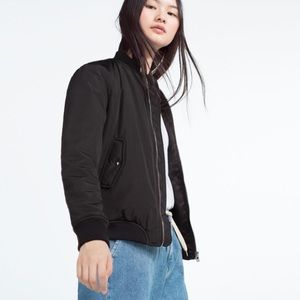 ZARA BLACK BOMBER JACKET
